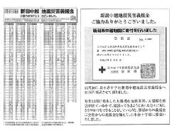 新潟県中越地震に義援金を寄付